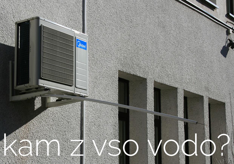 Odvajanje kondenza s klimatsko napravo