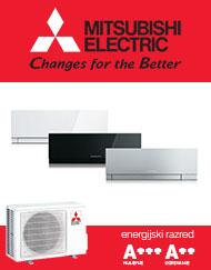Kirigamine zen klimatska naprava EF25VE v beli, srebrni ali črni barvi