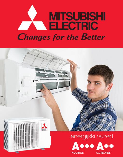 Mitsubishi Electric EF25VE klimatska naprava z montažo