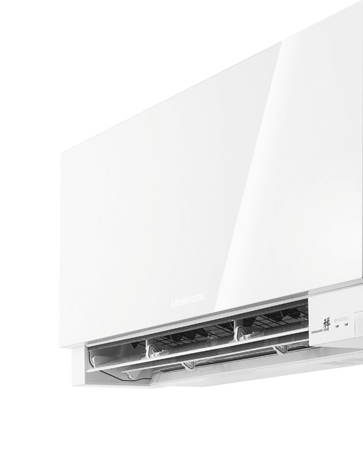 Detajl Mitsubishi EF35VE2 klimatske naprave v beli barvi