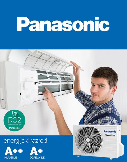 Panasonic klima z montažo, vgradnja model KIT-TZ12SKE