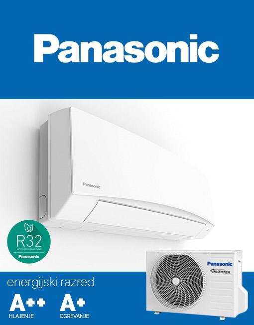 Klimatska naprava Panasonic CS-TZ12SKEW in CU-TZ12SKE s hladilnim sredstvom R32.