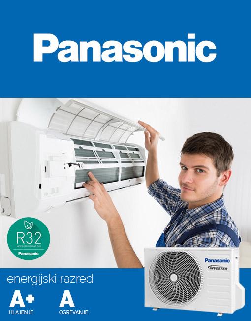 Panasonic klima z montažo, vgradnja model KIT-TZ15SKE
