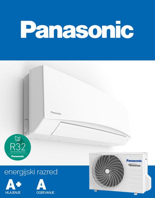 Klimatska naprava Panasonic CS-TZ12SKEW in CU-TZ15SKE s hladilnim sredstvom R32.