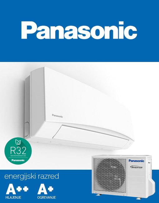 Klimatska naprava Panasonic CS-TZ9SKEW in CU-TZ9SKE s hladilnim sredstvom R32.