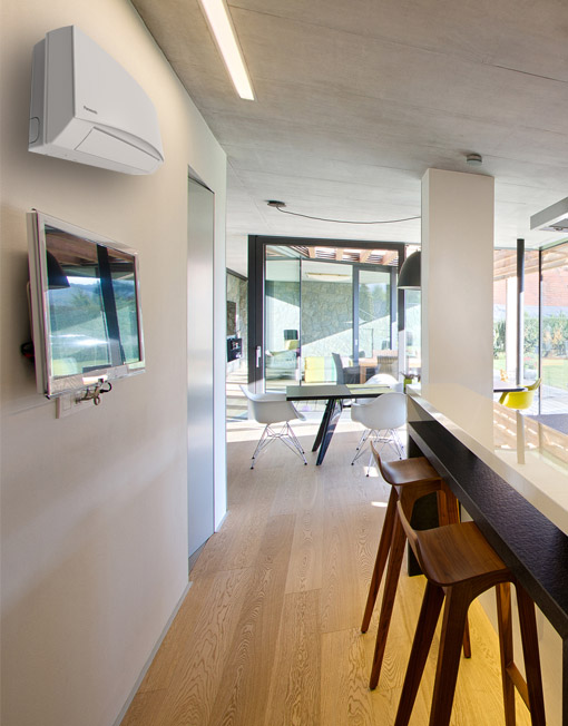 Klimatska naprava KIT-TZ9SKEW je idealna za klimatizacijo manjših prostorov.