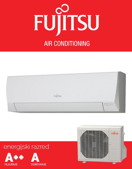 Fujitsu ASYG12LLCE AOYG12LLCE klimatska naprava, ECO, A++ hlajenje