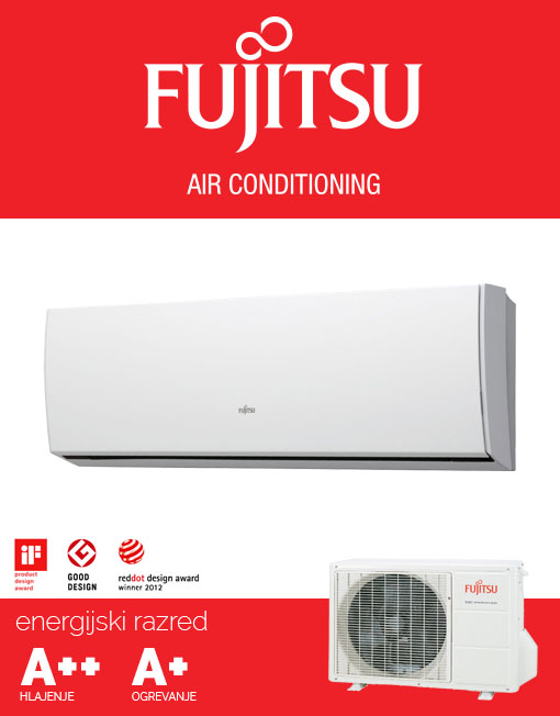 Fujitsu ASYG12LUCA / AOYG12LUC klimatska naprava, A++ hlajenje