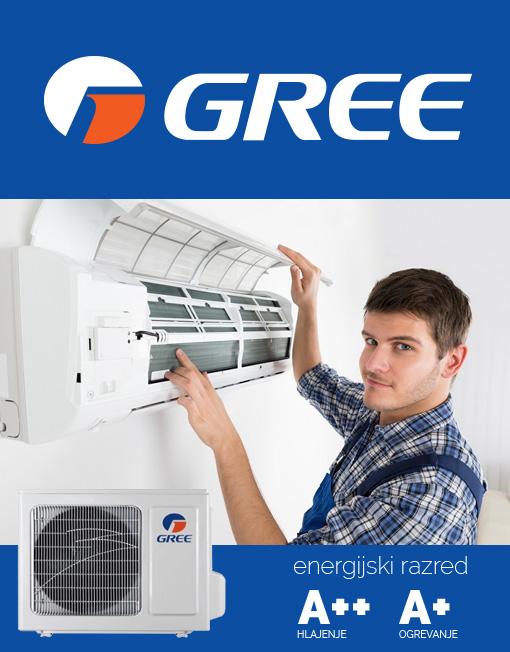 GREE BORA 25 klimatska naprava z montažo