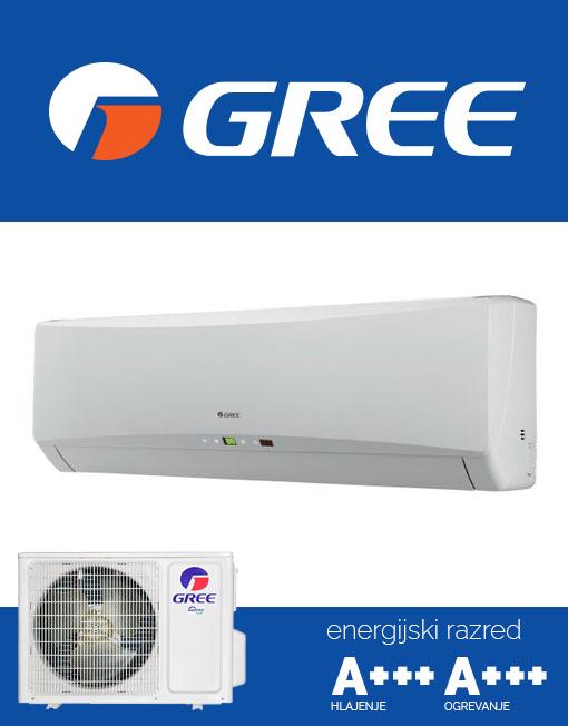 Gree HANSOL 25 GWH09TB-S3DNA1D zidna klimatska naprava s tehnologijo G10 Inverter
