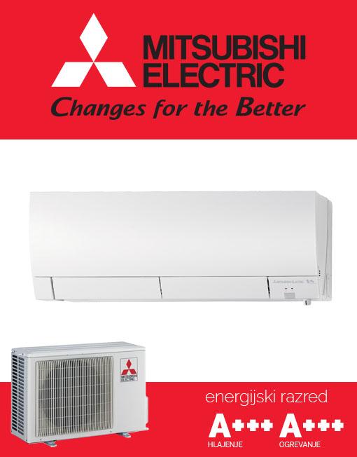 Mitsubishi Electric MSZ-FH25VE, MUZ-FH25VE tiha in učinkovita klimatska naprava
