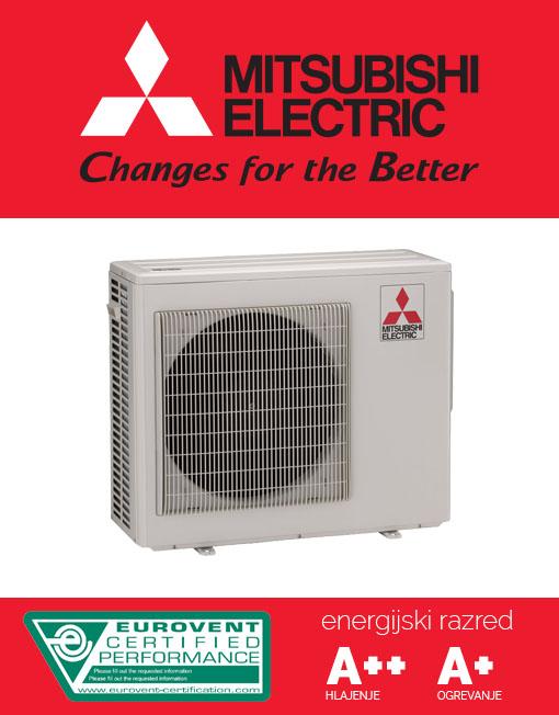 MXZ-3E54VA klimatska naprava za priklop do treh notranjih enot moči od 1,5kW do 5kW