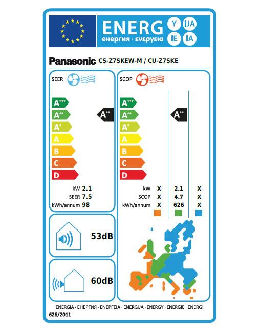 Panasonic KIT-Z7SKEM energetska nalepka