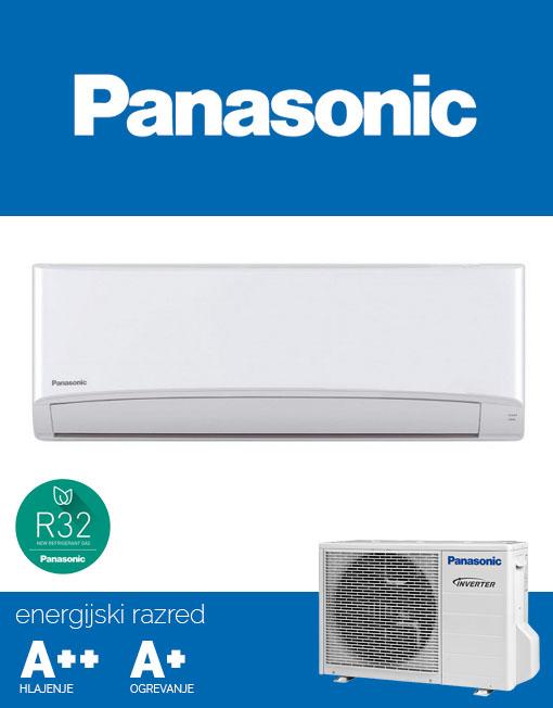 Panasonic KIT‑TZ20‑TKE klima, tiho delovanje 20dB, R32 plin, A++ učinkovitost
