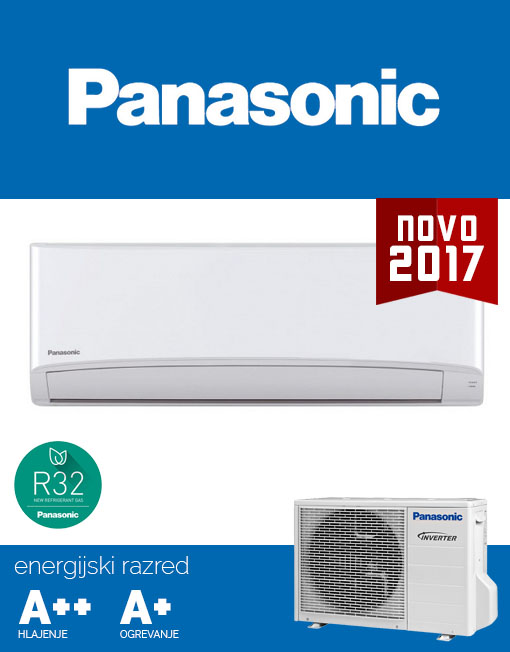 Panasonic KIT‑TZ25‑TKE klima, tiho delovanje 20dB, R32 plin, A++ učinkovitost