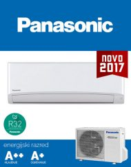 Panasonic CU-TZ35TKE / CS-TZ35TKEW klima, hladilno sredstvo R32, A++ učinkovitost