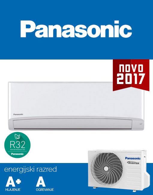 Panasonic CU-TZ42TKE / CS-TZ42TKEW klima, hladilno sredstvo R32, A+ učinkovitost