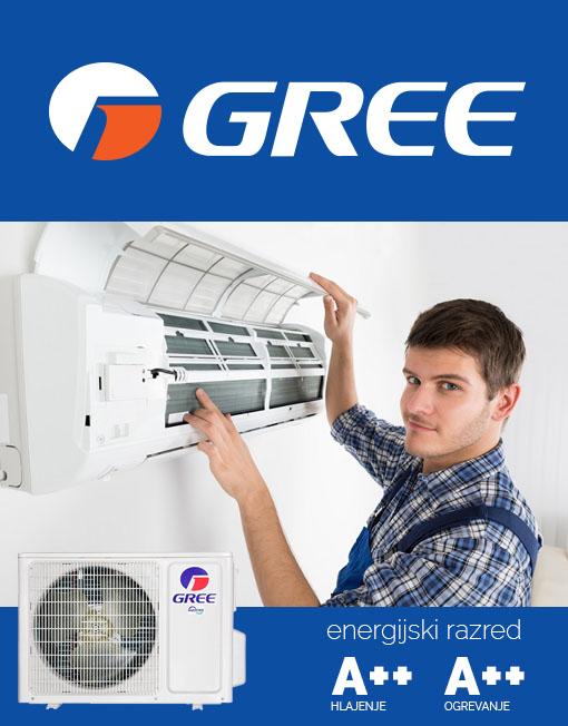Vgradnja klime, hitra vgradnja klime, poceni montaža Gree
