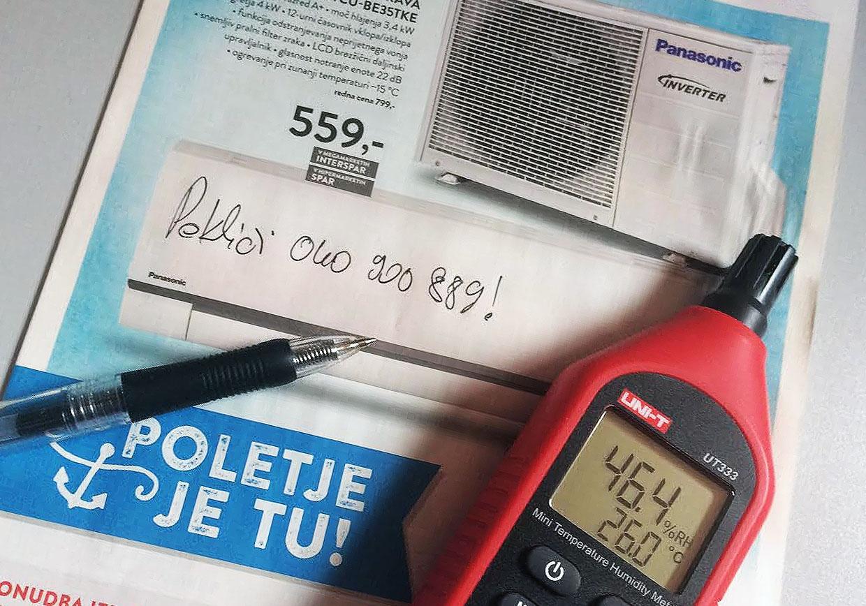 Panasonic BE-35TKE klima v akciji